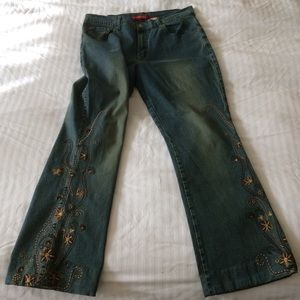 London Blue Vigoss henna embroided jeans Sz 13/14